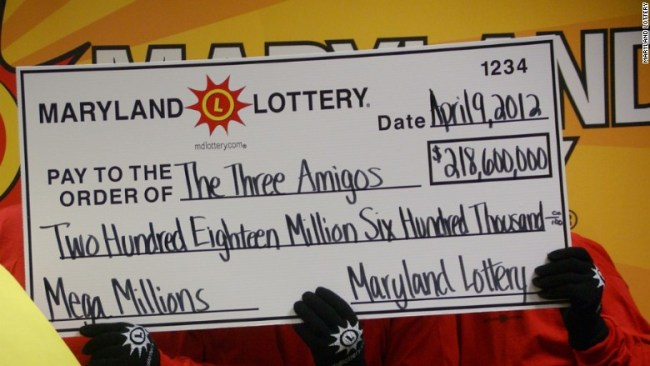 three amigos lottery winners