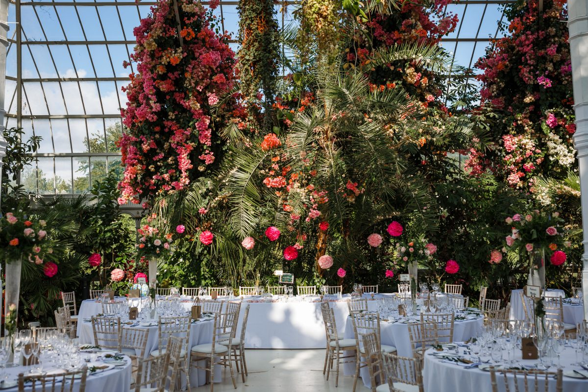 Top table at Sefton Palm House