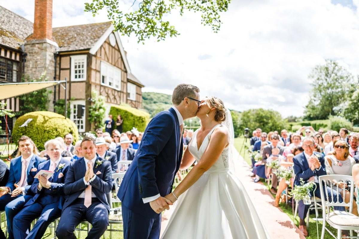 An outdoor wedding with garden games