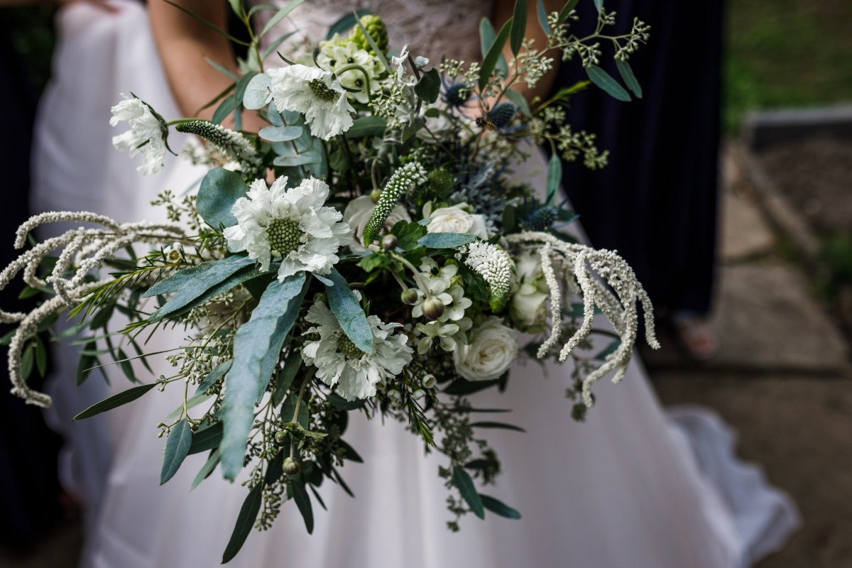 Wedding with a botanicals and green theme in Lancashire