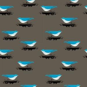 Birch Fabrics - Charley Harper - Mountain Blue Bird