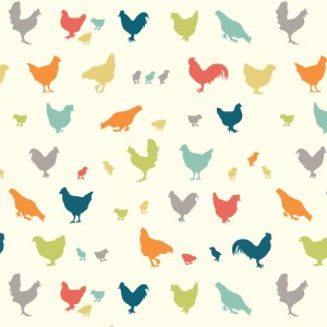 Birch Fabrics - Farm Fresh - Hen And Friends Multi