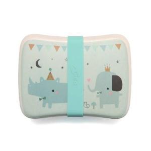 petitmonkey - Bamboo Lunchbox Rhino & Friends
