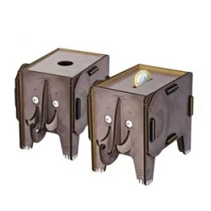 Werkhaus - Vierbeiner Twinbox Spardose (Elefant)