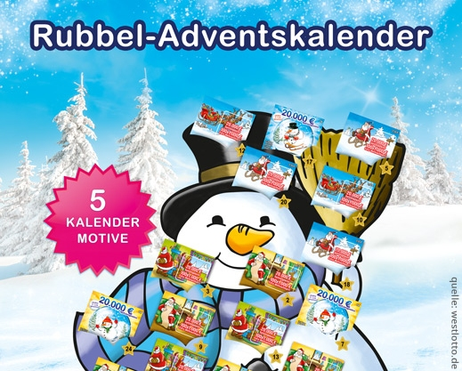 Rubbellos Adventskalender