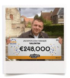 Valentin EuroMillions Gewinner von Jackpot dot Com