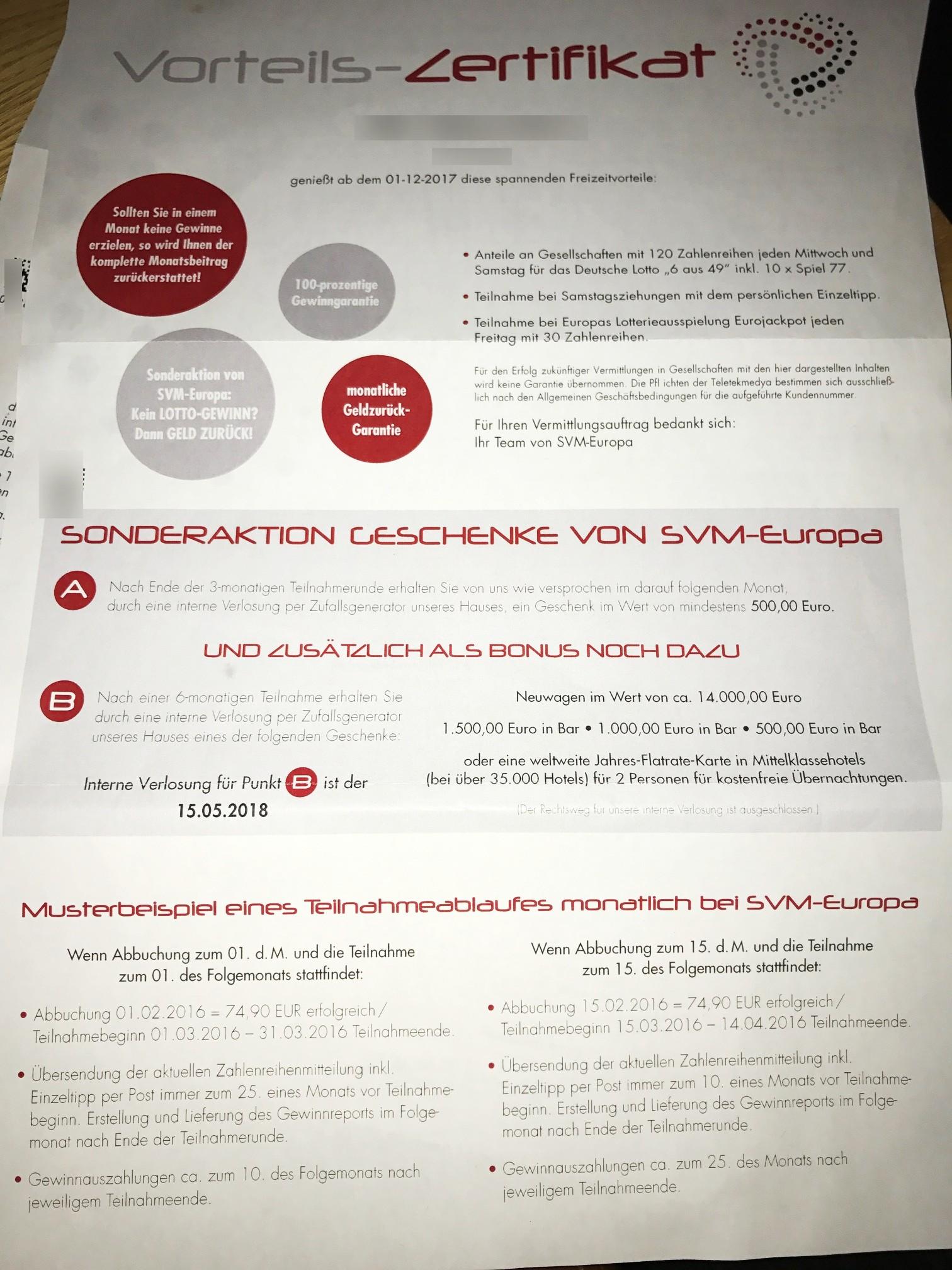 SVM-Europa Lotto Gesellschaft: unsere Erfahrungen   LottoDeals.org