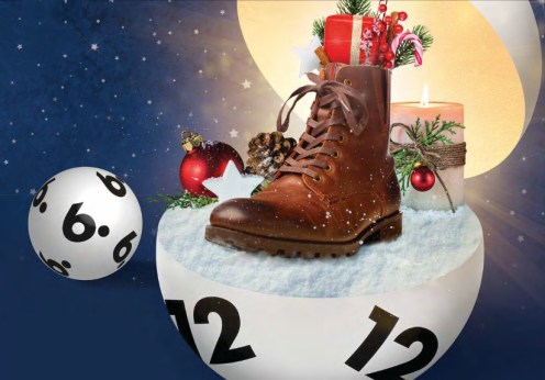 Nikolausschuh in Lottokugel