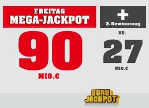 Doppeljackpot im EuroJackpot am 09.02.2018