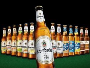 Teilnehmende Biersorten am Krombacher Gewinnspiel