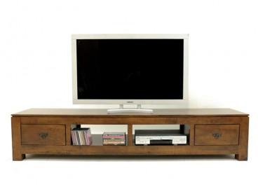 meuble tv bois massif teck manguier