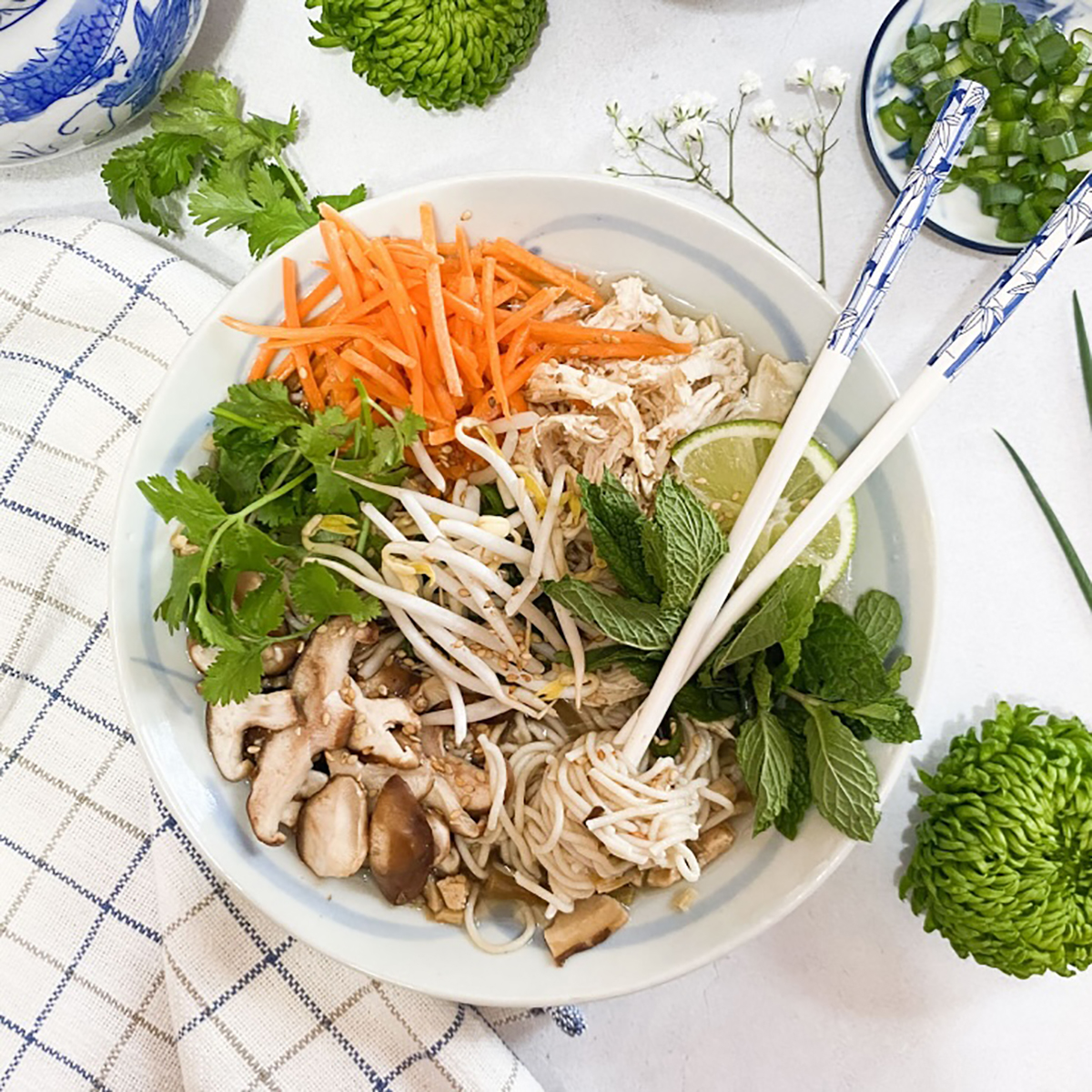 Hot Sour Noodle Soup With Lemongrass Chicken Lotus Foods Website