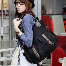 กระเป๋าสะพาย ข้างแฟชั่นเกาหลี ผู้หญิงผ้าคานวาสใบใหญ่ สวยขายดี นำเข้า สีดำ - พร้อมส่งIS185 ราคา625บาท