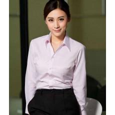 เสื้อเชิ้ต ทำงาน แฟชั่นเกาหลี แขนยาว ชุดฟอร์มพนักงานบริษัท นำเข้า ไซส์S-4XL สีขาวลายทางชมพู - พรีออเดอร์KD1611 ราคา950บาท