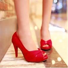 รองเท้าส้นสูง แฟชั่นเกาหลีสวยหรูออกงานแต่งงาน นำเข้าไซส์34ถึง43 สีแดง - พรีออเดอร์RB2096 ราคา1480บาท