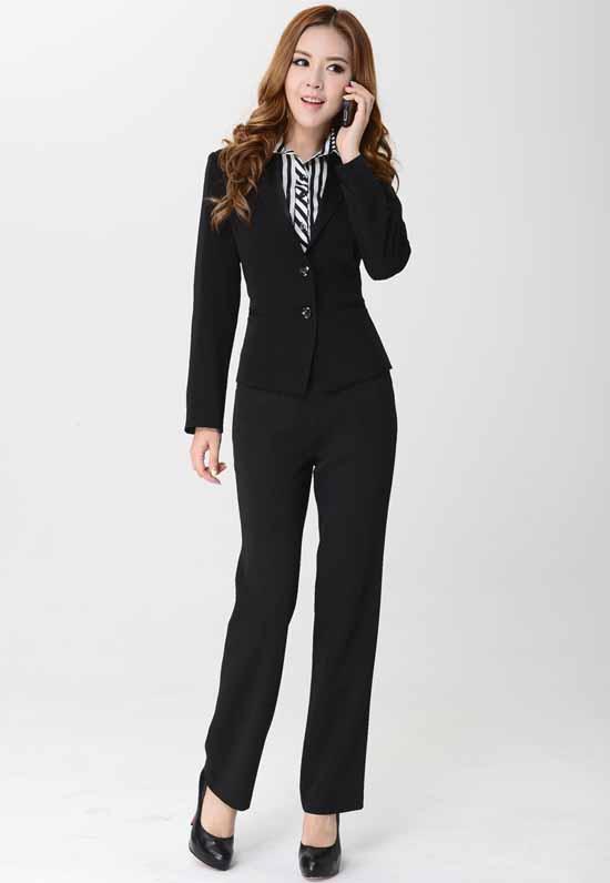ชุดสูทกางเกง แฟชั่นเกาหลีเสื้อสูท+กางเกงชุดสวยใหม่ นำเข้าไซส์Sถึง3XLสีดำ