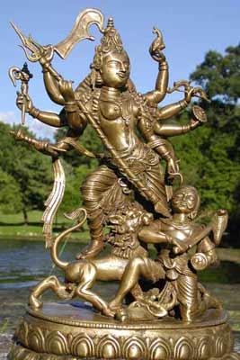 Durga Bronze Statue Picture