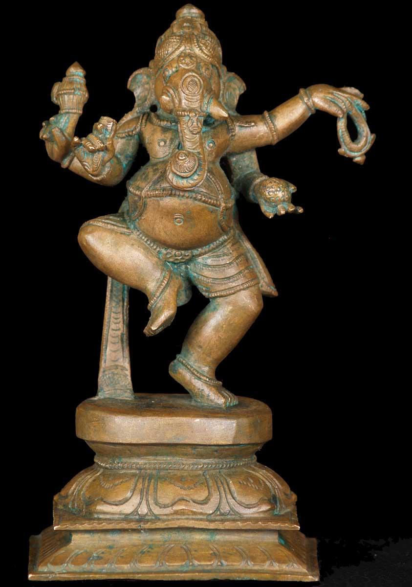 Sold Bronze Dancing Ganesh Statue 7 5 Quot 60b98 Hindu