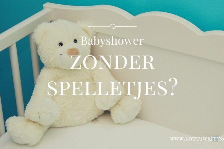 babyshower zonder spelletjes