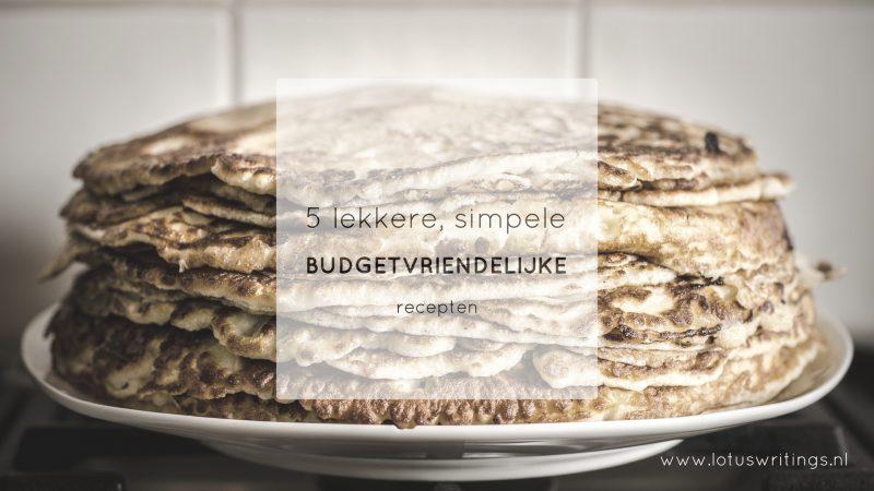 budgetvriendelijke recepten