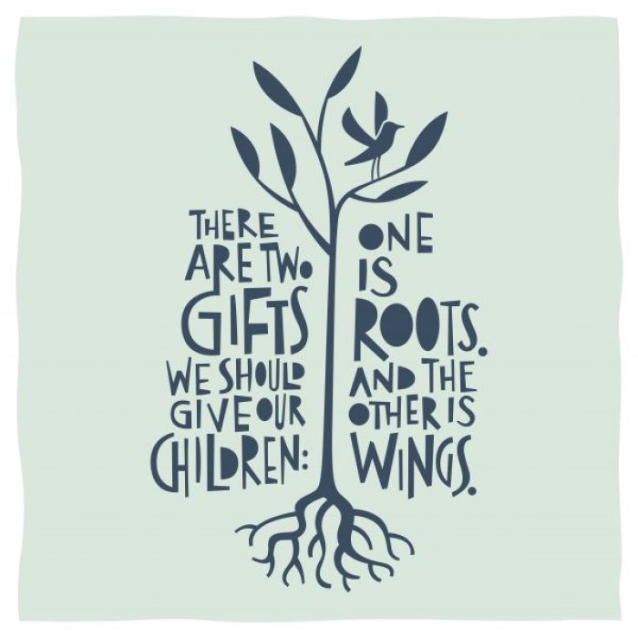 quote ouderschap roots wings