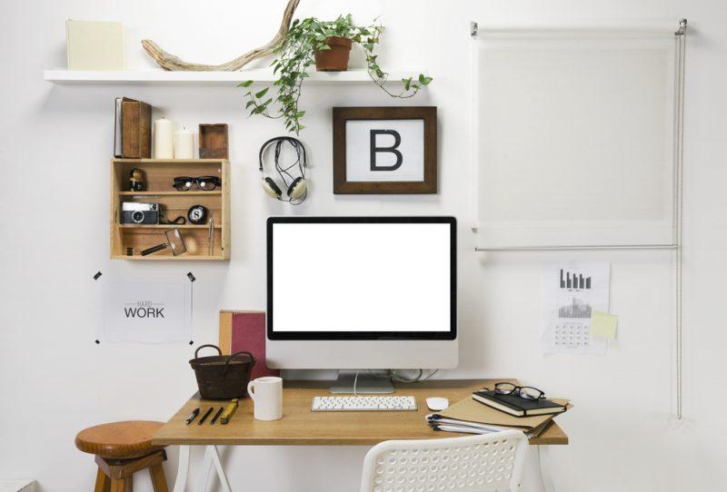 kantoor aan huis in blokhut