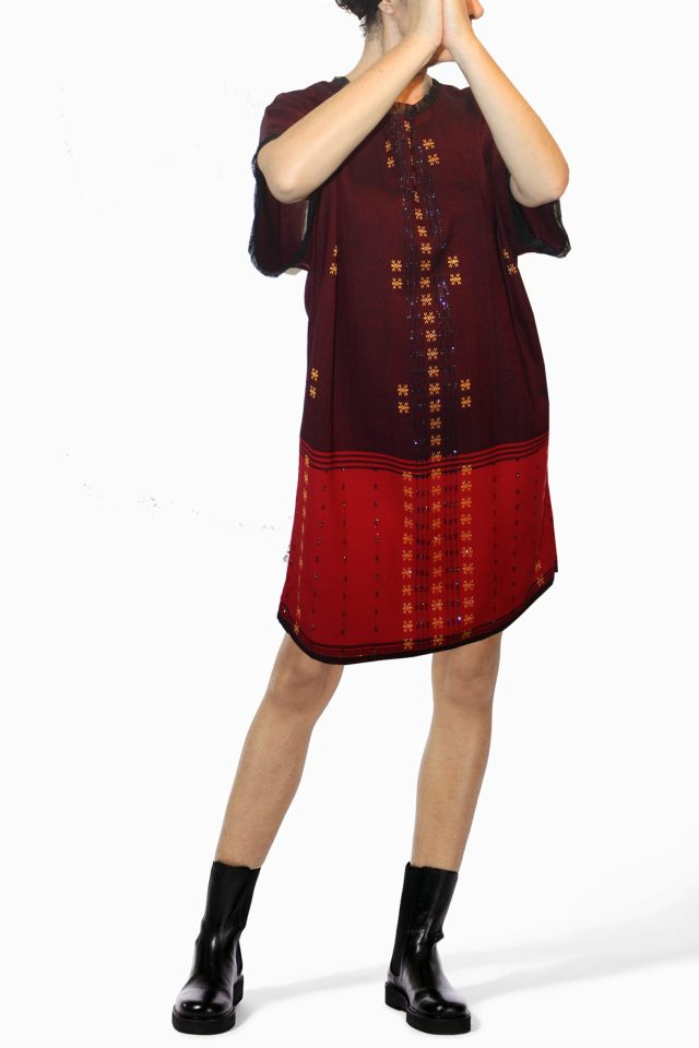 **MAITE** Special Collection Jacquard Burgundy