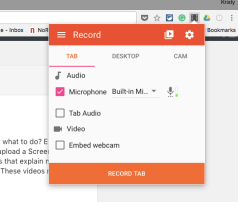 screencastify recording controls