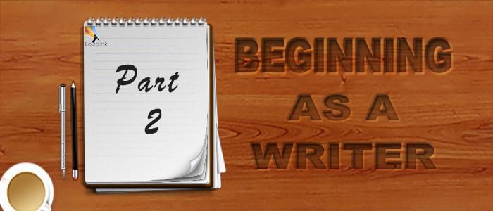 Beginning as a writer