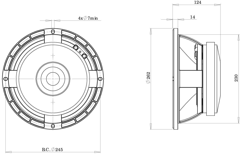 B Amp C Speaker 10plb76
