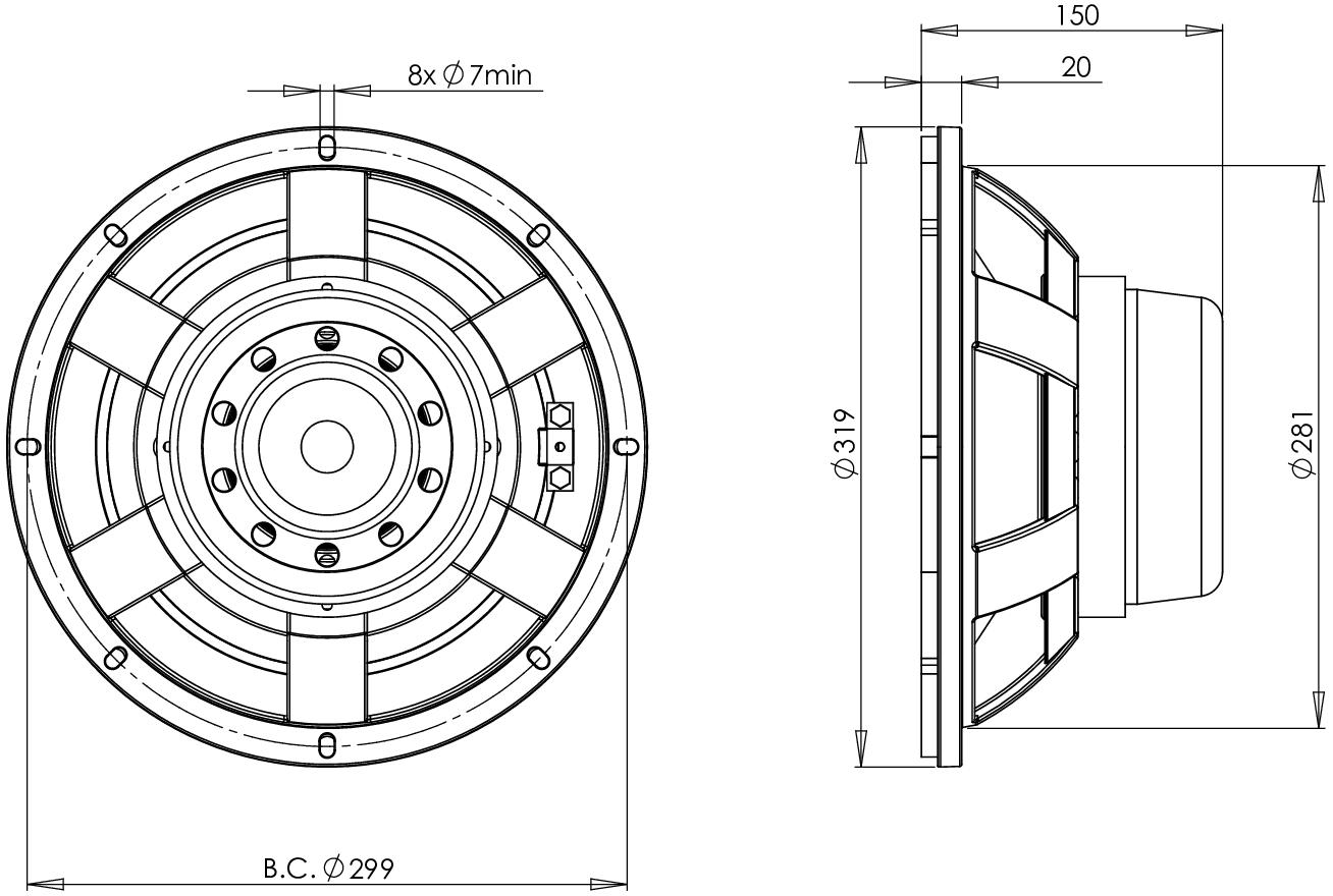 B Amp C Speaker 12bg100