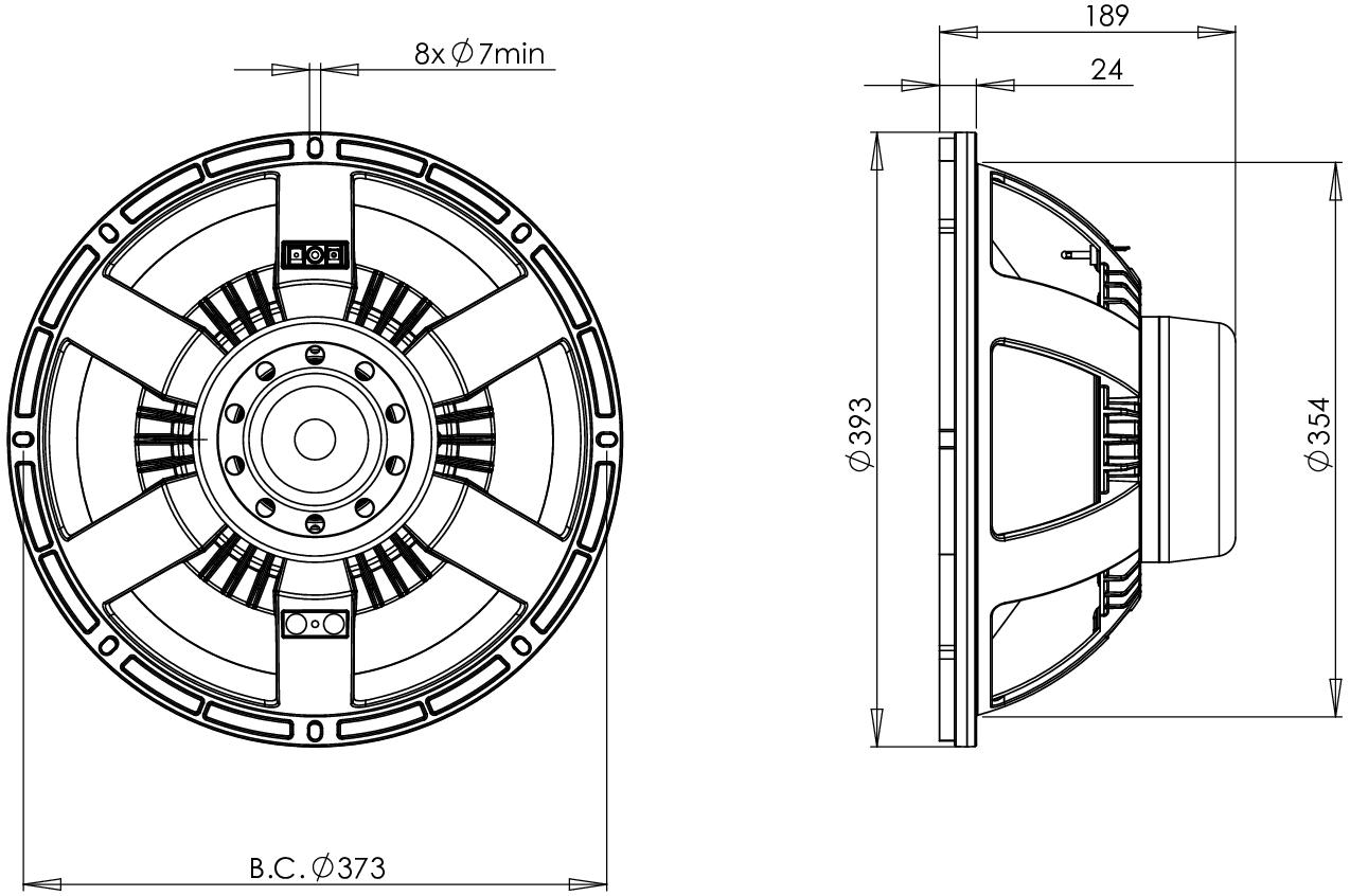 B Amp C Speaker 15bg100