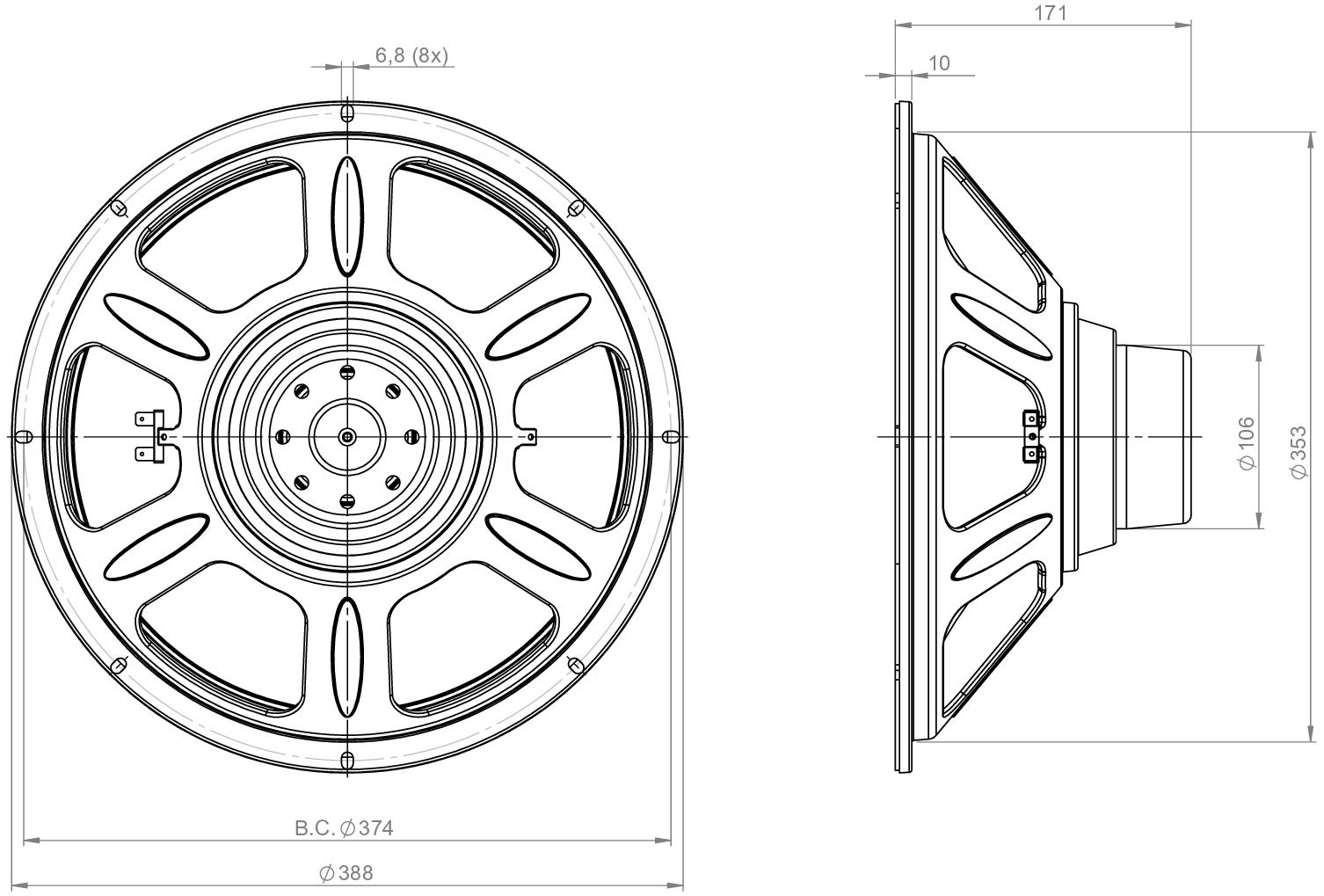 B Amp C Speaker 15cla76