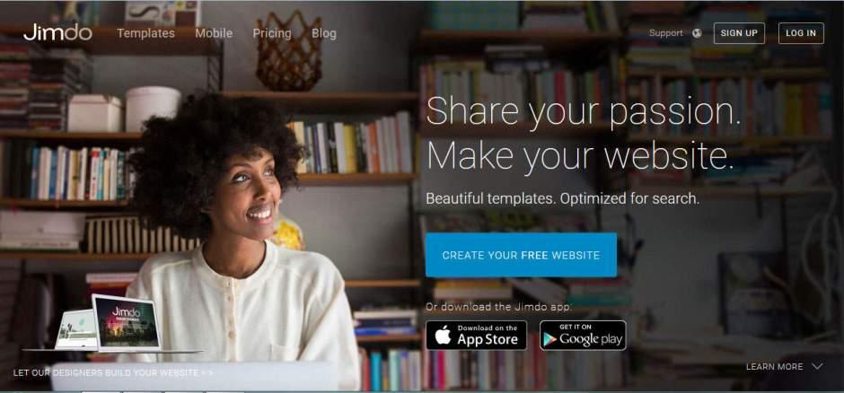Jimdo Online Free Website Builders