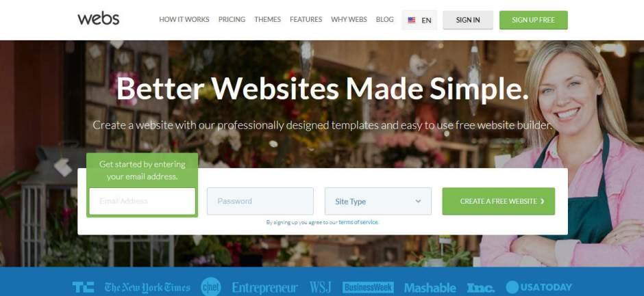 Webs Online Free Website Builder