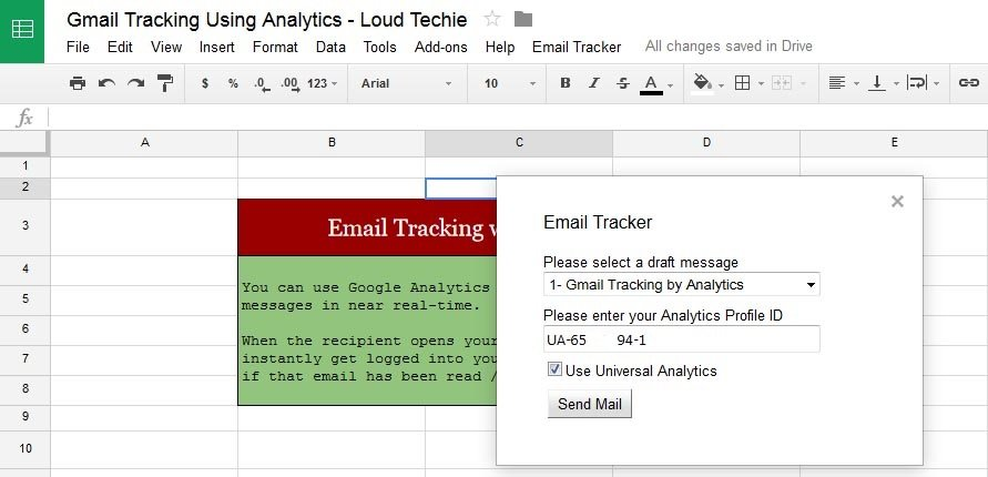 Google Analytics Profile ID to track Email