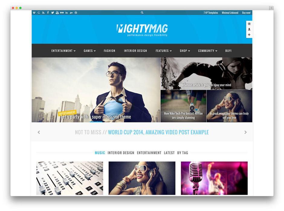 MightyMag SEO friendly WordPress theme