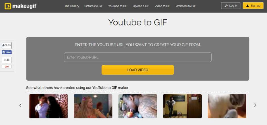 Makeagif Best Websites to Create GIF Images from YouTube Videos