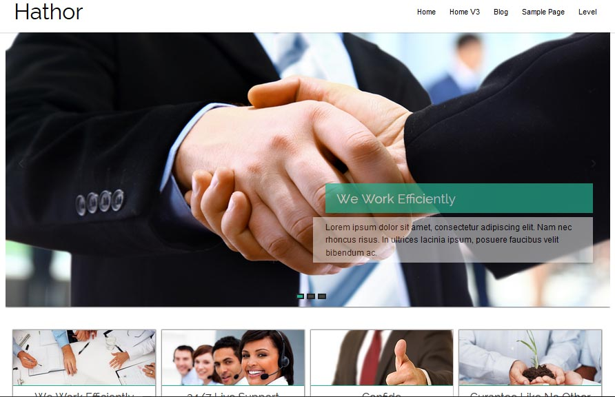 Hathor Free WordPress Business Services Theme