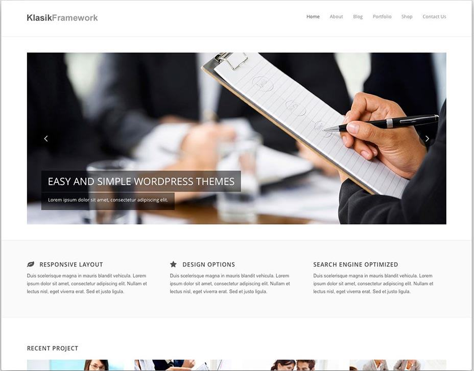 Klasik Free WordPress Business Services Theme