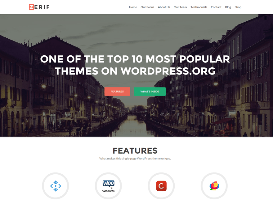 Zerif Lite Free WordPress Business Theme
