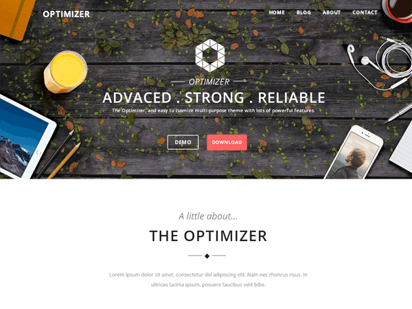 Optimizer Free WordPress Business Services Theme
