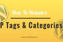 How To Noindex WordPress Tags and Categories