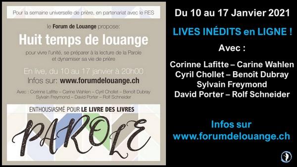 Forum de louange 10-17-01-2021