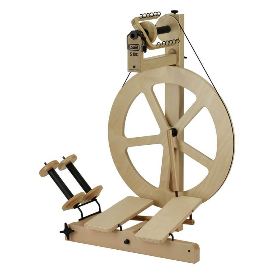 S10 C Double Treadle Irish Tension Art Yarn wheel