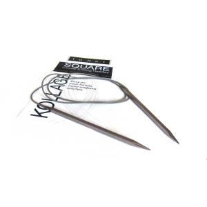 Ergonomic square knitting needle
