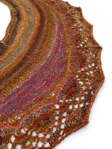 knit handspun shawl by Jillian Moreno