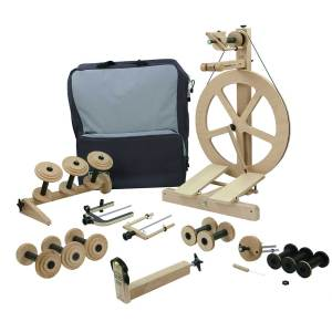 louet S10 spinning wheel fully loaded bundle package