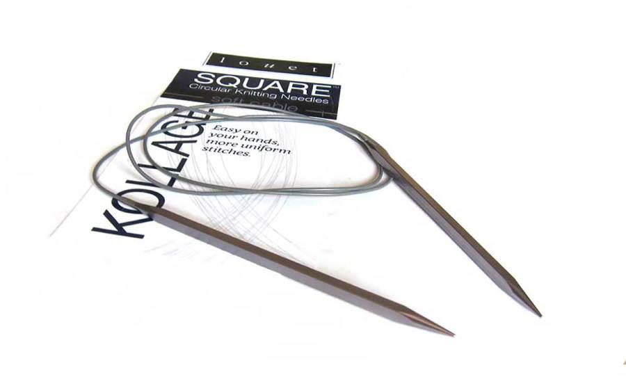 Kollage Square ergonomic knitting needle