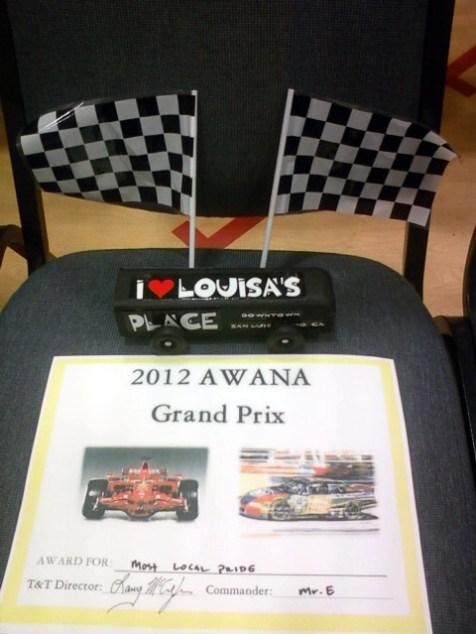 An AWANA Grand Prix Winner -- Louisa's Place
